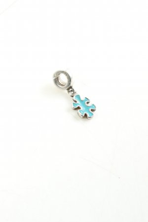 Pandora Charm silver-colored-turquoise casual look
