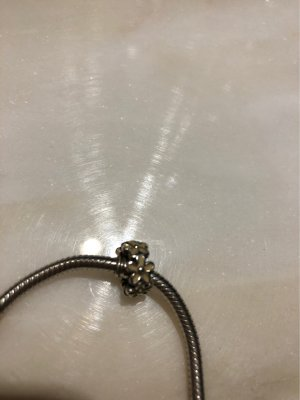 Pandora Bedel zilver-licht beige