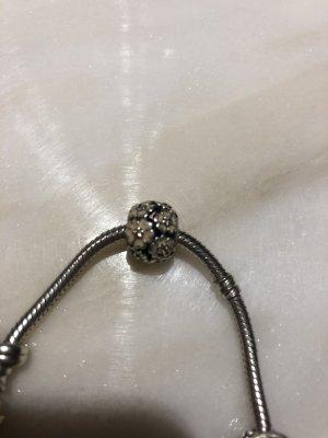Pandora Bedel licht beige-zilver