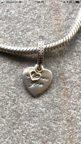 Pandora Charm/Anhänger Herz bicolor