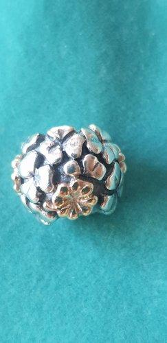 Pandora charm Kleeblatt 925 Silber 14 Karat gold