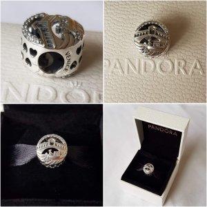 Pandora Charm black-silver-colored