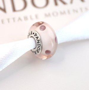 Pandora Charm * Rosa Murano mit Punkten