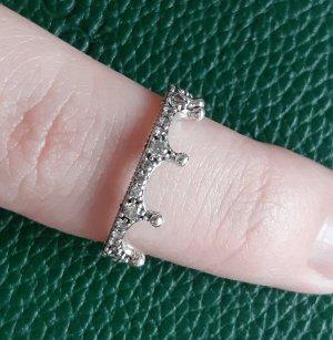 Pandora Clear Sparkling Crown Ring  Silber