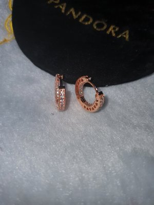 Pandora Creolen in rosegold aus 925 Sterling Silber