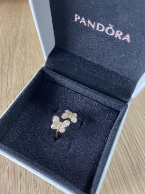 Pandora Silver Ring gold-colored-white