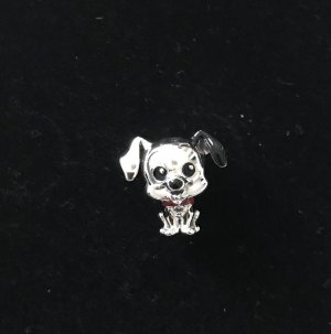 Pandora Charm silver-colored-black