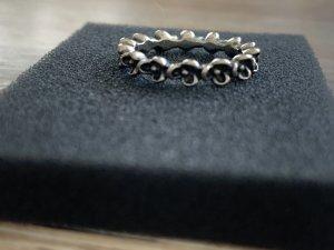 Pandora Silver Ring black-silver-colored