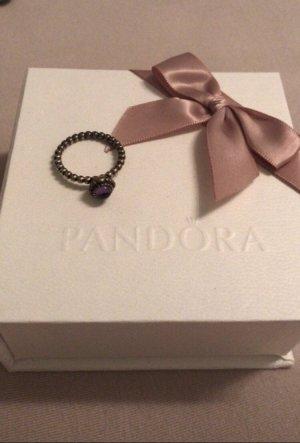 Pandora Zilveren ring zilver-lila