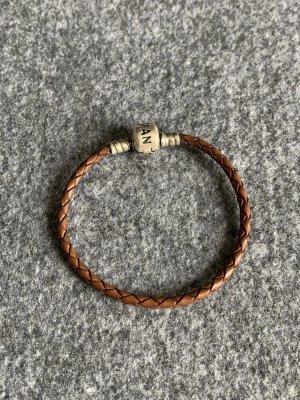 Pandora Leather Bracelet silver-colored-dark brown