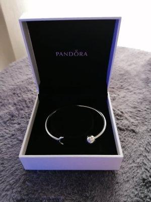 Pandora Moments Mond und Sterne offener Armreif aus Sterlingsilber LE