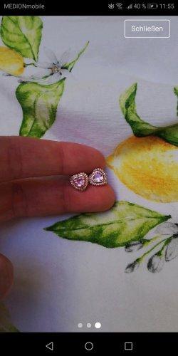 Pandora Kolczyk ze sztyftem w kolorze różowego złota-jasny różowy