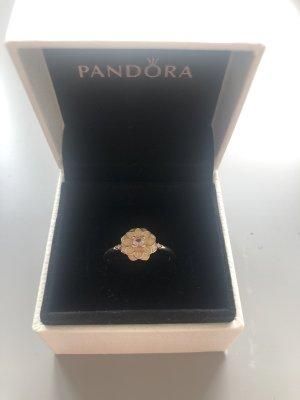 Pandora Anillo de plata amarillo claro-rosa claro