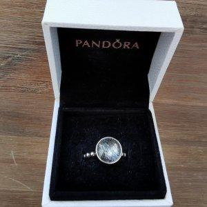Pandora Ring Kügelchen Rutilquarz Silber NEUw