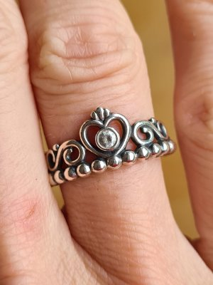 Pandora Silver Ring silver-colored-light grey