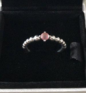 Pandora Rosafarbener Metallperlen-Ring Größe 56