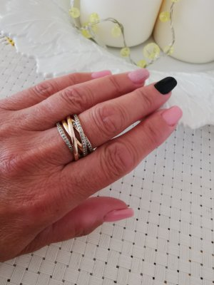 Pandora Ring with Decorative Stone gold-colored
