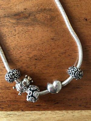 Pandora Srebrny łańcuch Wielokolorowy