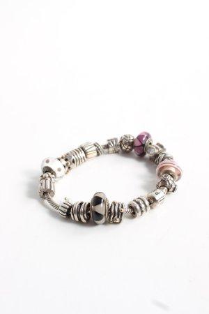 Pandora Bracelet en argent multicolore style décontracté