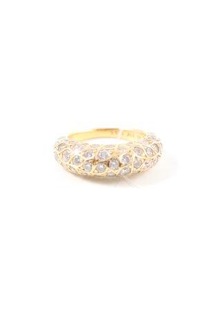 Pandora Srebrny pierścionek złoto-srebrny W stylu casual