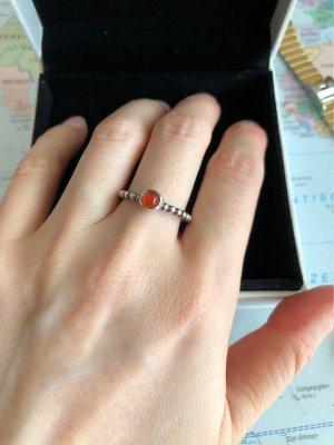 Pandora silver ring mit karneol Stein
