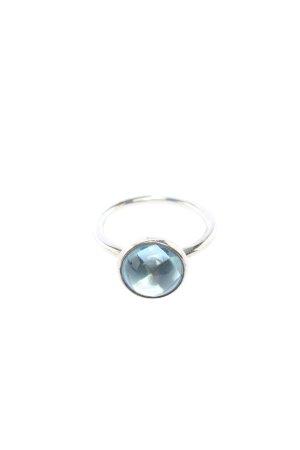 Pandora Anillo de cuentas color plata-azul look casual