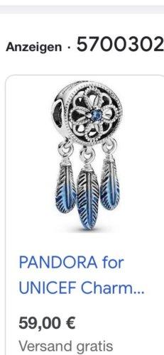 Pandora Pendant neon blue-light grey