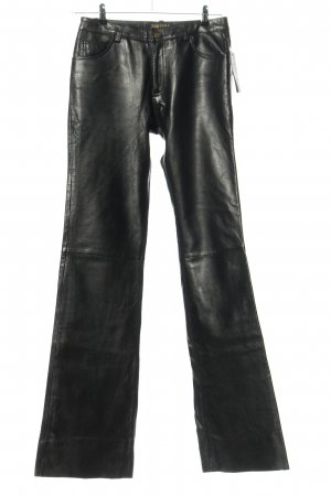 pantera Leather Trousers black extravagant style