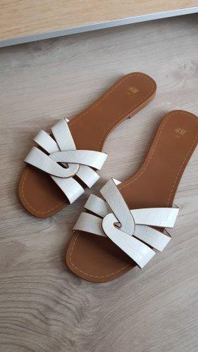 H&M Ciabatta aperta bianco sporco-color cammello