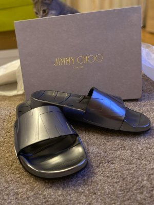 Jimmy Choo Ciabatta aperta grigio