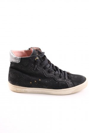 Pantofola d'oro High Top Sneaker schwarz Animalmuster Casual-Look