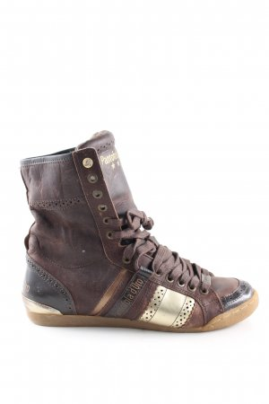 Pantofola d'oro High Top Sneaker braun-goldfarben Casual-Look