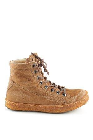 Pantofola d'oro High Top Sneaker braun Animalmuster extravaganter Stil