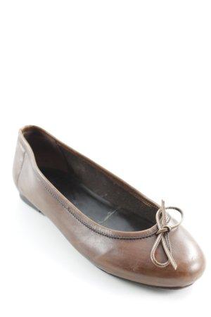 Pantofola d'oro Lackballerinas braun schlichter Stil