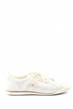 Pantofola d'oro Schnürsneaker weiß-pink Casual-Look