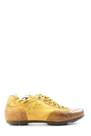 Pantofola d'oro Schnürsneaker blassgelb-braun sportlicher Stil