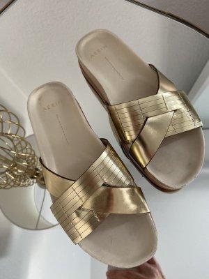 AERIN Sandalo comodo oro-bianco sporco
