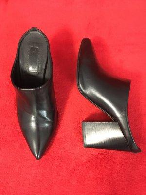 Topshop Heel Pantolettes black leather