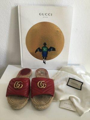 Gucci Zomerschoenen met hak rood-baksteenrood Leer
