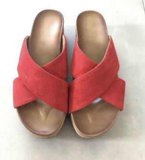Pantolette rot, Größe 39