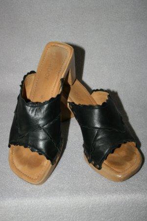 Gabor Sandalias con tacón negro Cuero