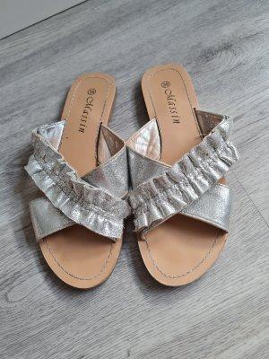 Massin Beach Sandals silver-colored