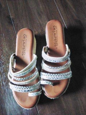 Cm Laufsteg Heel Pantolettes silver-colored