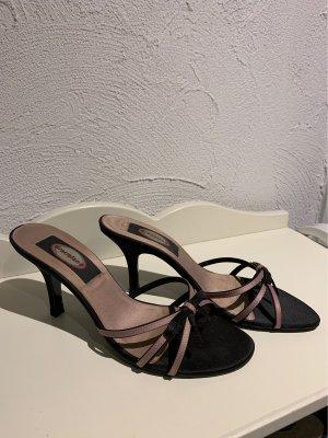Graceland Heel Pantolettes black-pink