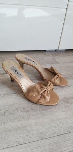 Ariane Heel Pantolettes cream