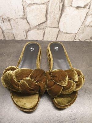 H&M Heel Pantolettes olive green