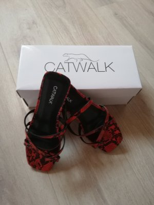 Catwalk Sabots black-dark red