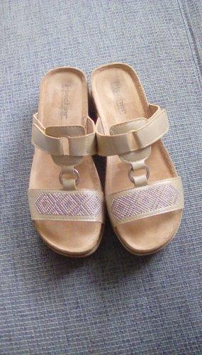 Sandales confort brun sable