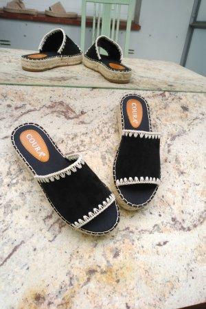 Coura Espadrille Sandals black-natural white