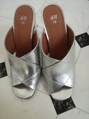Woman Collection H&M Sandalias con tacón color plata